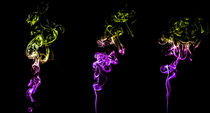 Die 3 Rauchsäulen Rauchfotografie von Dennis Stracke