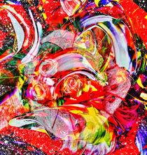 Rosen Abstrakt 2 von Walter Zettl