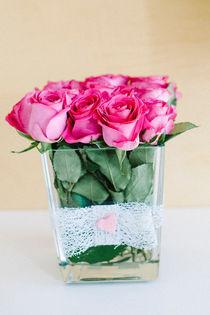 vase of red roses by Emanuele Capoferri