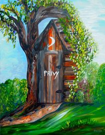 Outhouse - Privy - The Old Out House von eloiseart