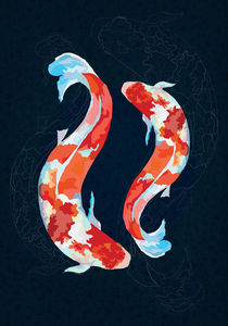 Lucky Koi Fish von Nedim Seferovic