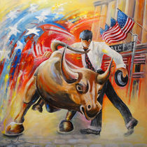 Taking on The Wall Street Bull von Miki de Goodaboom