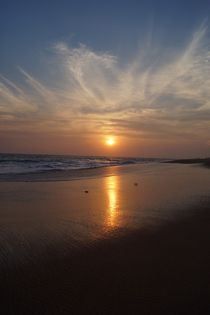 Sonnenuntergang in Chowara, Kovalam by lewin