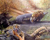 Two Tigers by Noel Clarke von theartmarket