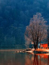 Angler in der Abendsonne | Landschaftsfotografie von Patrick Jobst