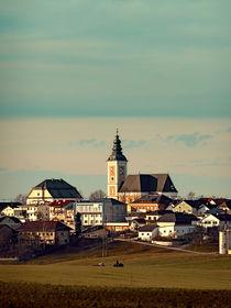 'Dorf, Panorama, Wolkenhimmel   Landschaftsfotografie' by Patrick Jobst