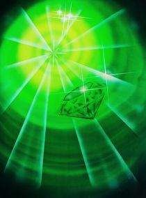 Smaragd mit Diamantschliff von Walter Zettl