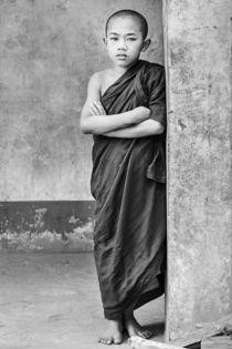 Burmese Novice Monk by Matilde Simas