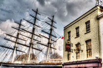 The Cutty Sark and Gipsy Moth Pub Greenwich by David Pyatt