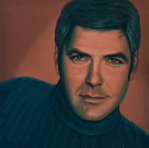 George Clooney painting by Paul Meijering
