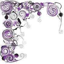 Purple Swirls And Twirls by Angela Allwine