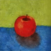 Apple with Blue and Green von Michelle Calkins
