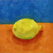 Lemon with Blue and Orange by Michelle Calkins