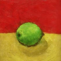 Lime with Red and Gold von Michelle Calkins
