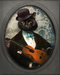 Black Cat Art - Felix Fitzpatrick von thelonelypixel