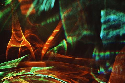 Orange-green-abstraction