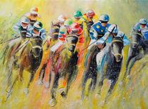 Horse Racing 06 von Miki de Goodaboom