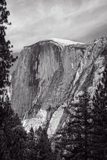 Half Dome In Black And White by John Bailey