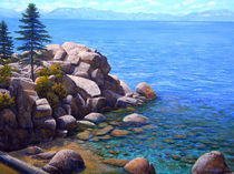ROCKS AND WATER LAKE TAHOE by Frank Wilson