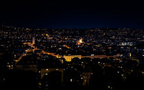 Stuttgart West Night Skyline by Michael Haußmann