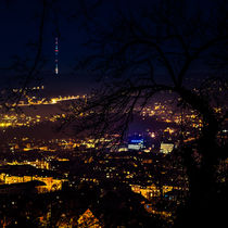 Stuttgart Night Skyline von Michael Haußmann
