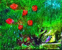 Tulpen vor Basaltstein by Helmut Englisch