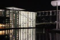 Spree Riverside Berlin Night by Maddy Lenz