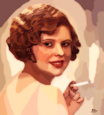 Woman with a cigarette  by Tamy Moldavsky