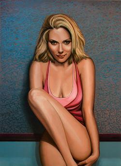 Scarlett-johansson-painting