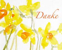 Danke-Aquarell Osterglocke by Sonja Jannichsen