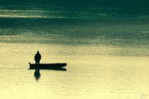 The fisherman on lake ossiach / Der Fischer auf dem Ossiacher See von ndsh