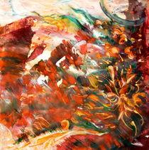 rote landschaft von Barbara Ast