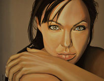Angelina Jolie Voight painting by Paul Meijering