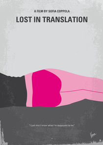 No287 My Lost in Translation minimal movie poster von chungkong