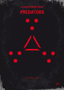 No289 My PREDATORS minimal movie poster von chungkong