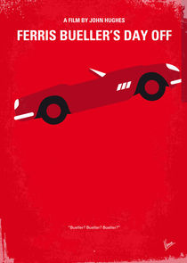 No292 My Ferris Bueller's day off minimal movie poster by chungkong