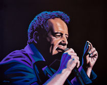 Jim Kerr of The Simple Minds painting by Paul Meijering