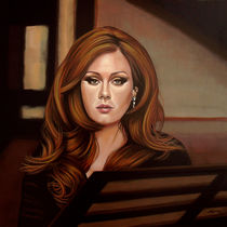 Adele painting by Paul Meijering