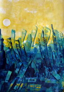 Sonnenuntergang  über Ruinen von Barbara Ast
