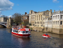 York Guildhall with river boat by Robert Gipson