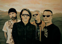 U2 Silver And Gold Painting von Paul Meijering