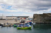 Historische Walfangboote im Hafen von Ponta Delgada von Wolfgang Dengler
