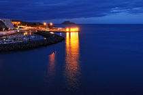 Nacht über dem Hafen von Angra  by Wolfgang Dengler