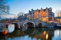 Sunset in Amsterdam von Michael Abid