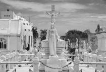 Gott ist mit Dir - Friedhof Skulpturen von MaBu Photography