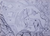 As The Wolf Howls At The Moon by jfantasma-artistry