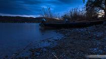 Fischerboot zur Blauen Stunde von Thomas  Heßmann