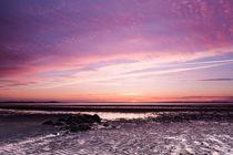Sonnenuntergang am Strand von Utersum auf Föhr von Fotos von Föhr Konstantin Articus