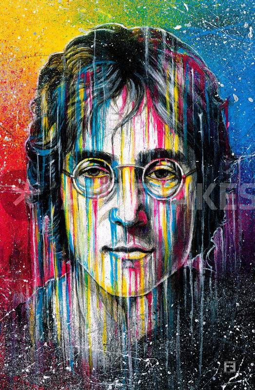John Lennon Painting Art Prints And Posters By Fernando Souza Artflakes Com