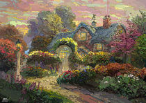 Garden House (Thomas Kinkade inspiration) by Tamy Moldavsky